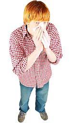 Η αλλεργία επηρεάζει συχνά τη μύτη, το αναπνευστικό σύστημα και το δέρμα